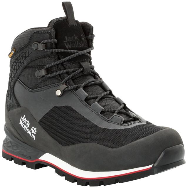 Jack Wolfskin Wilderness Lite Texapore Mid Cut Schuhe Herren blackred